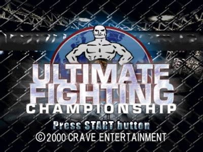 ultimate fighting championship ps1 iso download game