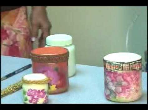 decorar vasos de mayonesa 70 decorando frascos vacios youtube