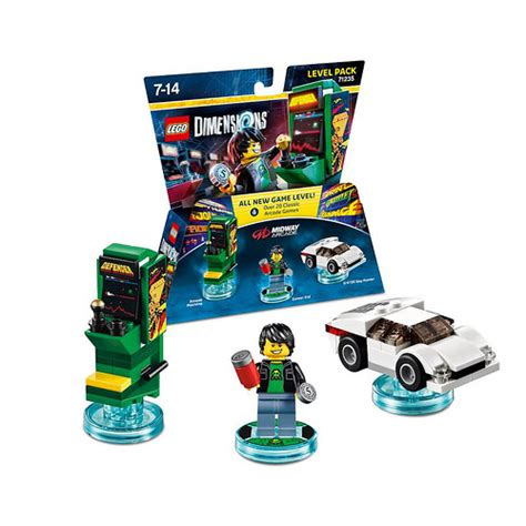 lego dimensions midway arcade level pack 71235 details released the brick fan
