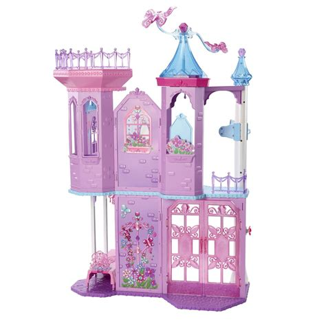 barbie princess doll house barbie mariposa and the fairy princess crystal palace dolls house castle ebay