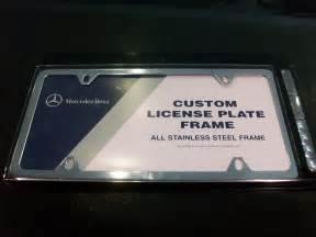 Mercedes License Plates Oem Genuine Mercedes Polished Stainless Steel