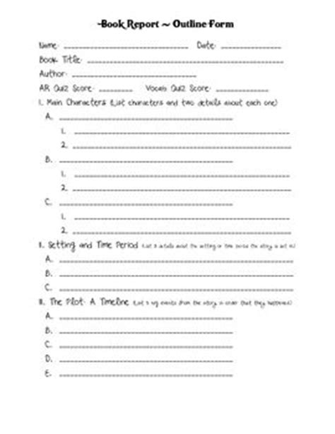 5th grade book report outline 17 best images about homeschool language arts on
