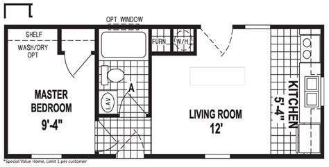 sle floor plans for houses micro 12 x 32 373 sqft mobile home factory expo home centers