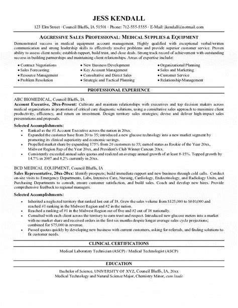 Salesperson Resume Exle Equipment Salesperson Resume