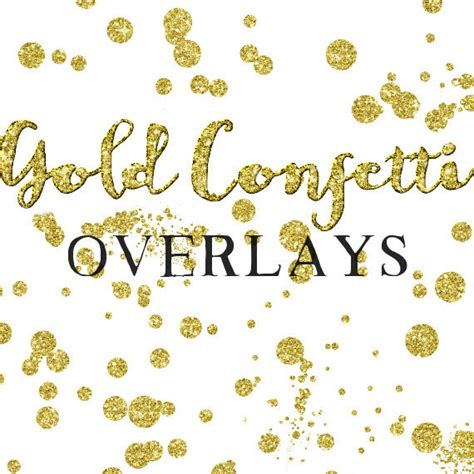 Wedding Overlay Clipart by Gold Confetti Overlay Clipart Glitter Confetti Clipart