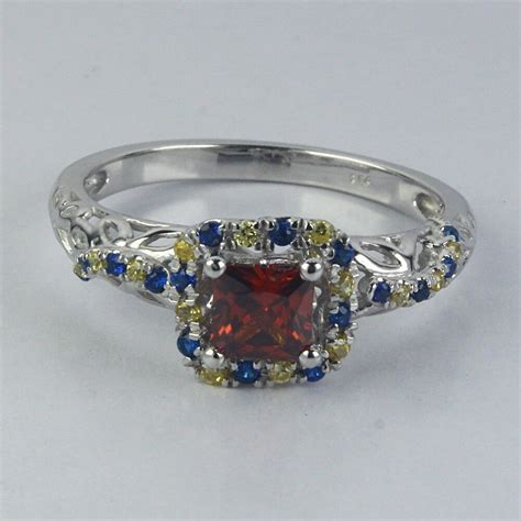 925 silver disney princess inspired snow white engagement ring simulated ebay