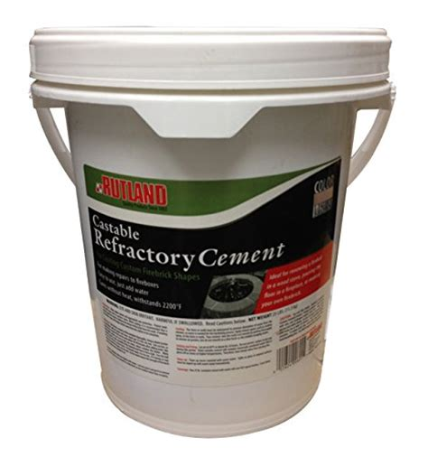 Fireplace Refractory Cement by Rutland Castable Refractory Cement 25 Pound Ebay
