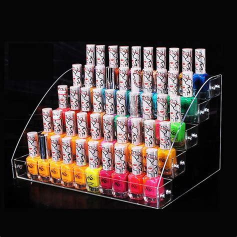 Tempat Kosmetik Lipstick Shelf Acrylic wholesale nail rack cosmetics display shelf acrylic makeup organizer lipstick frame 5