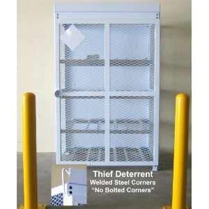 18 cylinder 20lb propane / freon tank storage cage / cabinet