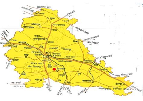 pune geographical map pune road map