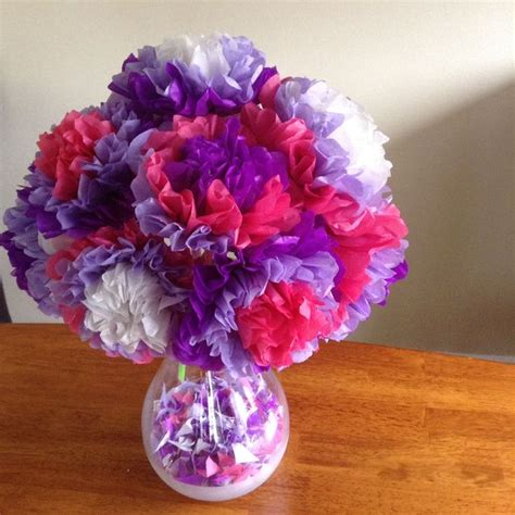 Flowers With Tissue Papers - easy tissue paper flowers 5 steps with pictures