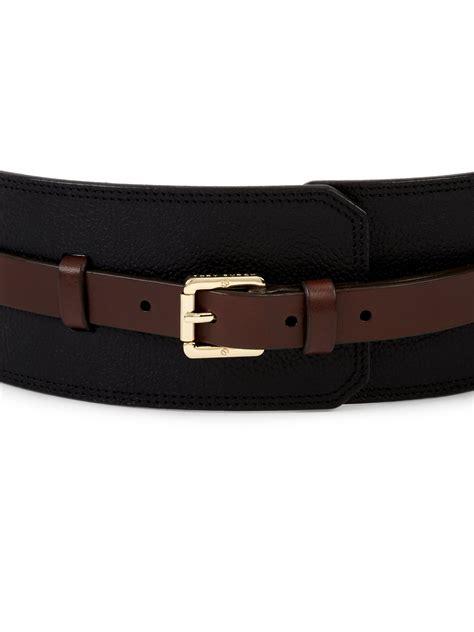 burch wide buckle waist belt in black lyst