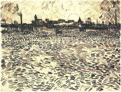 sketch tuesday summer art van gogh s bedroom harmony wheat field with setting sun 1888 vincent van gogh