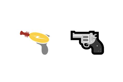 emoji pistol microsoft replaced its toy gun emoji with a real revolver
