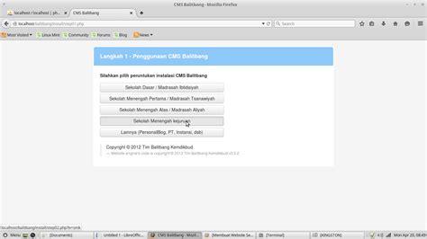 membuat web localhost membuat website sekolah menggunakan cms balitbang pada