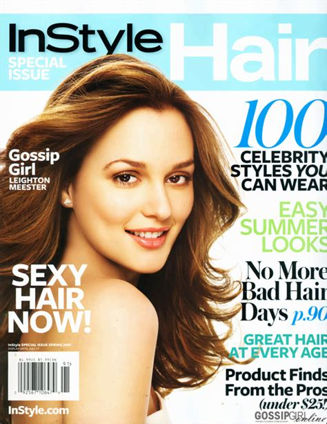 hairstyle magazine photo galleries leighton meester instyle spring 2009 hq photoshot