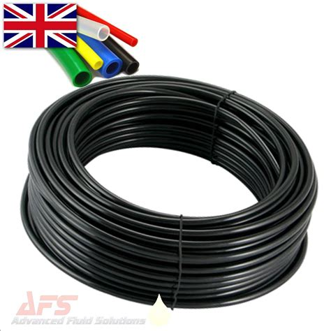 4mm o d x 2 5mm i d metric pa12 black tubing bs5409 din 73378