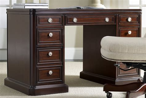 48 inch desk with drawers 48 dark cherry kneehole desk ebay