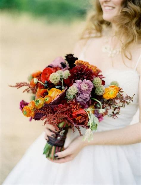 fall flowers for weddings 26 romantic fall wedding bouquets style motivation