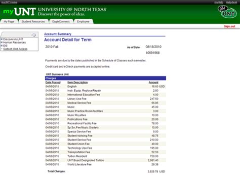 Financial Aid Award Letter Unt Review Tuition And Fee Bill Information Student Financial Aid And Scholarships