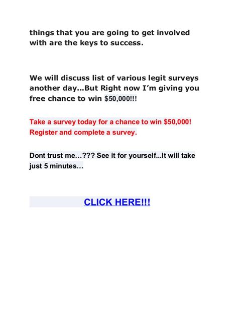 Win Money Doing Surveys - tips to earn money by doing survey and free chance to win 50 000