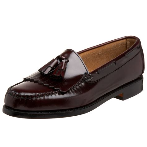burgundy loafers for g h bass co mens layton kiltie tassel loafer in brown