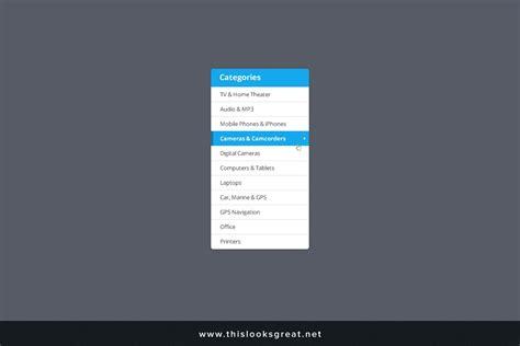 free simple category sidebar psd template creativetacos