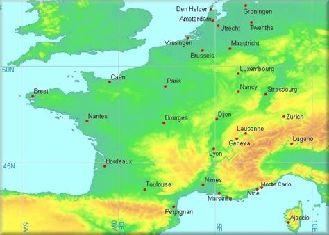 map netherlands germany switzerland climatological information for netherlands and