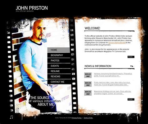 modello flash per un sito di pagine personali