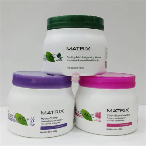 Harga Matrix Warna Rambut matrix biolage hair mask 490ml masker rambut varian