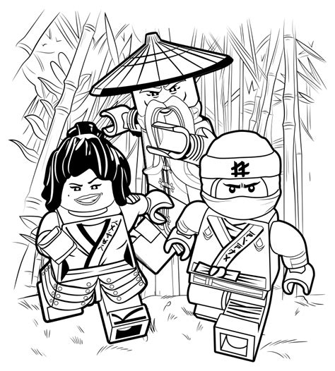 Coloring Pages Lego Ninjago Movie | the lego ninjago movie coloring pages to download and