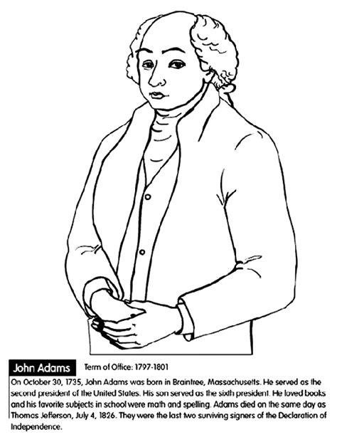 printable coloring pages us presidents u s president john adams coloring page crayola com