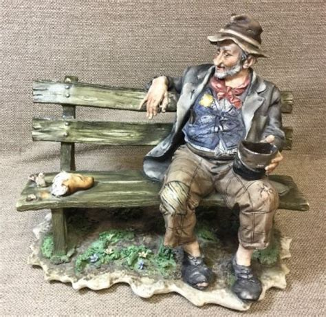 hobo on a bench capo di monte antique price guide