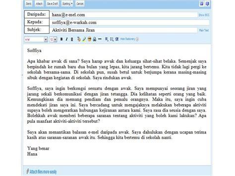 format email rasmi e mel tidak rasmi bahasa melayu hkss