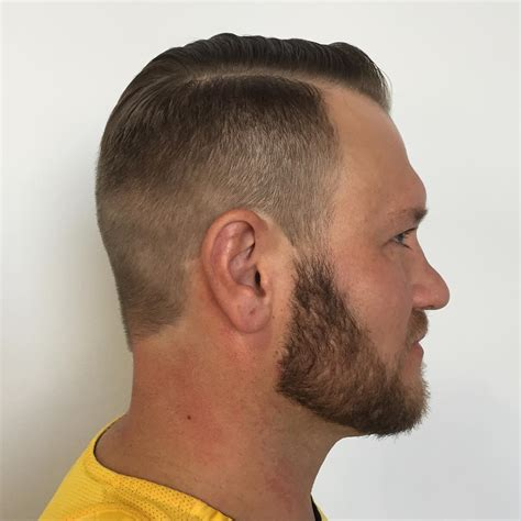 parted fade haircut haircuts models ideas