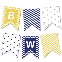 chevron and striped bunting banner chicfetti