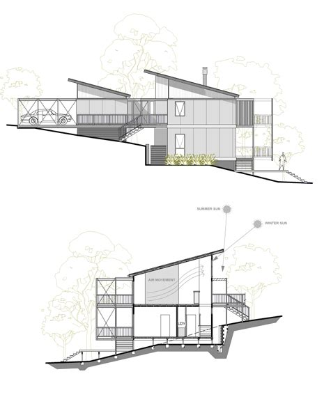 steep slope house plans sloping site this design suits a steep site and offers