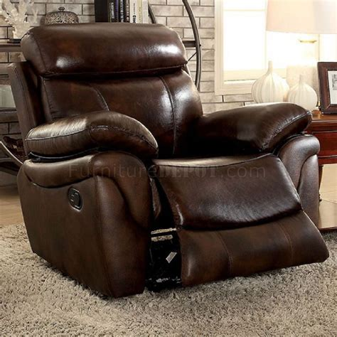 Top Grain Leather Sofa Recliner Reclining Sofa Cm6983 In Brown Top Grain Leather Match