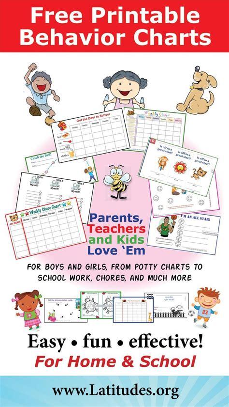 printable reward charts for home free printable behavior charts for home and school