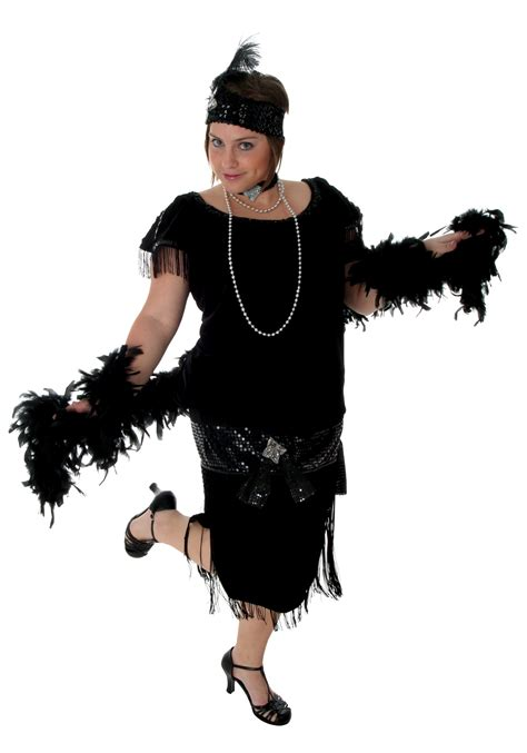 plus size flapper costume 1920s costumes 20s halloween deluxe black plus size flapper flappers costumes and