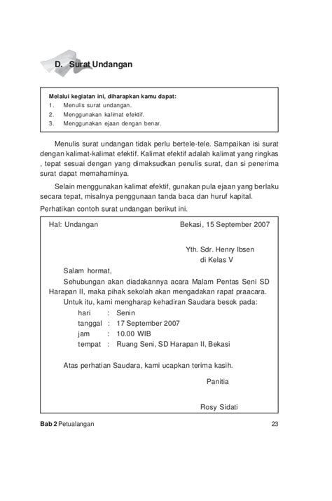 Contoh Surat Pengunduran Diri Karang Taruna Suratmenyuratnet