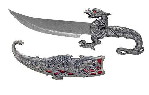 decorative knives 16 quot decorative dragon knife red