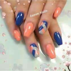 Orange nail art designs beautiful woman