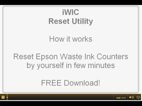how to reset epson l550 ink pad iwic waste ink pad reset utility for epson printers mac