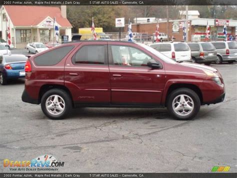 pontiac aztek red 2003 pontiac aztek maple red metallic dark gray photo