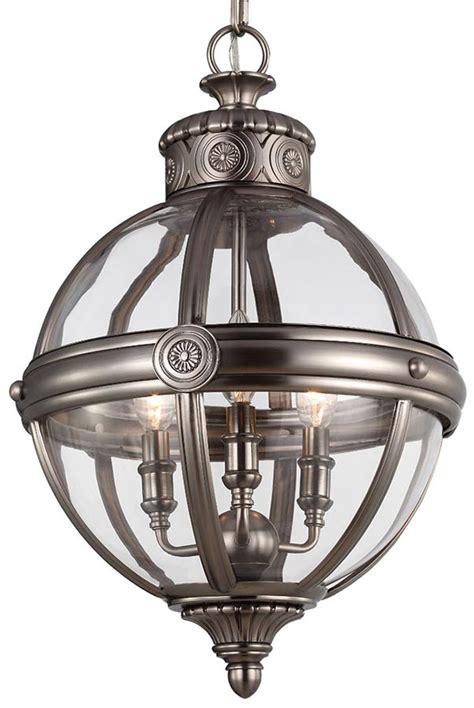 Antique Lantern Chandelier Feiss Pendant Chandelier 3 Light Globe Lantern Antique Nickel