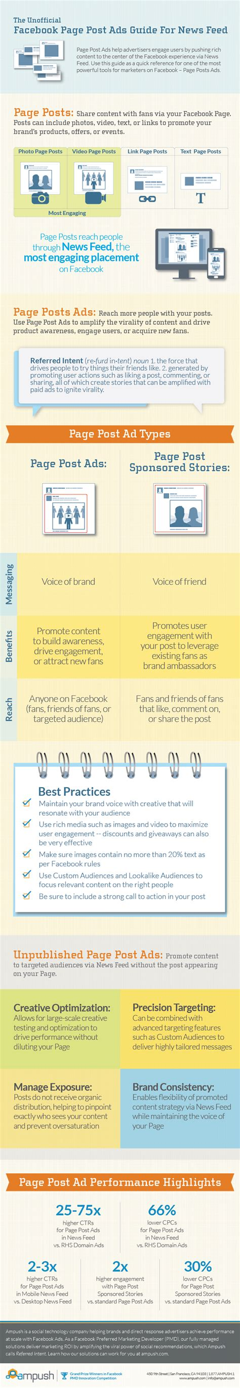Search For Pages Or Posts Infographic A Guide To Page Post Ads