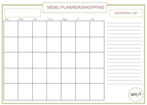 organized home printable menu planner organize your meals and eat at home more with these free
