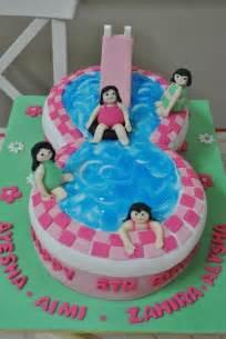 Pool Cake Decorations Swimming Pool Cake Cake Recipes Decorating Amp Fondant