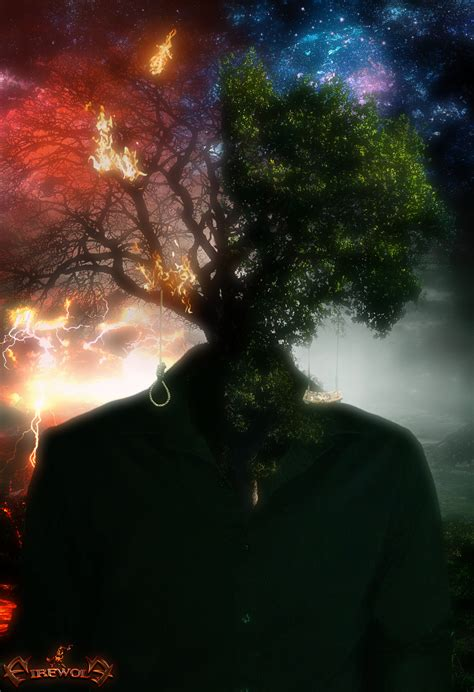 life and death in tree of life and death by firewolfdigitalart on